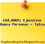 Cód.8865: Ejecutivo Banca Personas – Talca