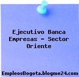 Ejecutivo Banca Empresas – Sector Oriente