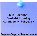 Sub Gerente Contabilidad y Finanzas – (GB.973)