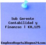Sub Gerente Contabilidad y Finanzas | KH.125