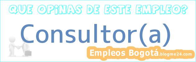 Consultor(a)