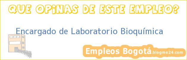 Encargado de Laboratorio Bioquímica