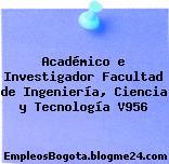 Académico e Investigador Facultad de Ingeniería, Ciencia y Tecnología V956