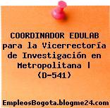 COORDINADOR EDULAB para la Vicerrectoría de Investigación en Metropolitana | (D-541)