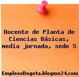 Docente de Planta de Ciencias Básicas, media jornada, sede S