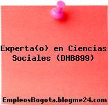 Experta(o) en Ciencias Sociales (DHB899)