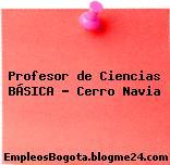Profesor de Ciencias BÁSICA – Cerro Navia
