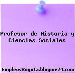 Profesor de Historia y Ciencias Sociales