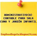 ADMINISTRATIVO(A) CONTABLE PARA SALA CUNA Y JARDÍN INFANTIL