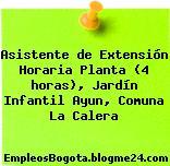 Asistente de Extensión Horaria Planta (4 horas), Jardín Infantil Ayun, Comuna La Calera