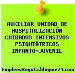 AUXILIAR UNIDAD DE HOSPITALIZACIÓN CUIDADOS INTENSIVOS PSIQUIÁTRICOS INFANTO-JUVENIL