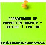 COORDINADOR DE FORMACIÓN DOCENTE – IQUIQUE | LVM.100