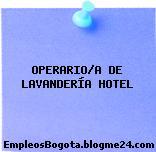 OPERARIO/A DE LAVANDERÍA HOTEL
