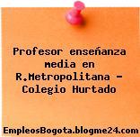 Profesor enseñanza media en R.Metropolitana – Colegio Hurtado
