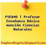 PVE049 | Profesor Enseñanza Básica mención Ciencias Naturales