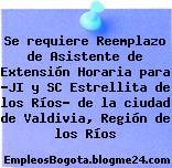 """Se requiere Reemplazo de Asistente de Extensión Horaria para """"JI y SC Estrellita de los Ríos"""" de la ciudad de Valdivia, Región de los Ríos"""