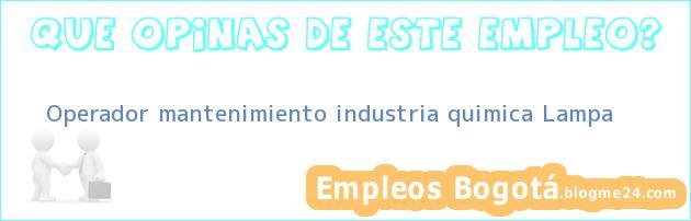 Operador mantenimiento industria quimica – Lampa