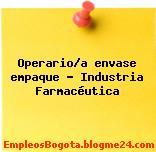 Operario/a envase empaque – Industria Farmacéutica