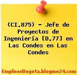 (CI.875) – Jefe de Proyectos de Ingeniería [D.77] en Las Condes en Las Condes