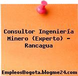 Consultor Ingeniería Minero (Experto) – Rancagua