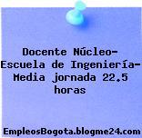 Docente Núcleo- Escuela de Ingeniería- Media jornada 22.5 horas