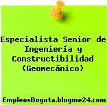 Especialista Senior de Ingeniería y Constructibilidad (Geomecánico)