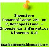 Ingeniero Desarrollador XML en R.Metropolitana – Ingenieria informatica Kibernum S.A