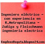 Ingeniero eléctrico – con experiencia en R.Metropolitana – Zuñiga y Fleischmann ingenieria electrica