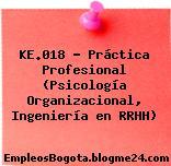 KE.018 – Práctica Profesional (Psicología Organizacional, Ingeniería en RRHH)