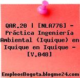 QAR.20 | [NLA776] – Práctica Ingeniería Ambiental (Iquique) en Iquique en Iquique – [V.048]