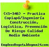 (XS-346) – Practica Copiapó/Ingeniería Construcción, Logística, Prevención De Riesgo Calidad Medio Ambiente