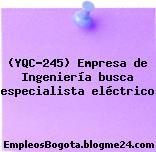 (YQC-245) Empresa de Ingeniería busca especialista eléctrico