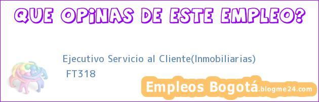 Ejecutivo Servicio al Cliente(Inmobiliarias) | FT318