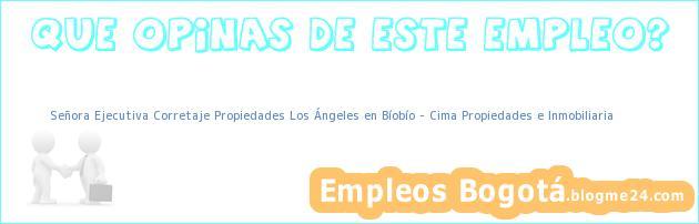 Señora Ejecutiva Corretaje Propiedades Los Ángeles en Bíobío – Cima Propiedades e Inmobiliaria