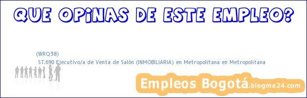 (WRQ38) | ST.690 Ejecutivo/a de Venta de Salón (INMOBILIARIA) en Metropolitana en Metropolitana