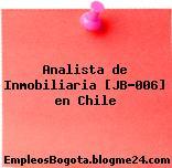 Analista de Inmobiliaria [JB-006] en Chile