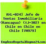 AXL-024] Jefe de Ventas Inmobiliaria (Rancagua) (XJ-302) en Chile en Chile en Chile [VW979]