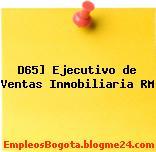 D65] Ejecutivo de Ventas Inmobiliaria RM