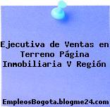 Ejecutiva de Ventas en Terreno Página Inmobiliaria V Región