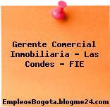 Gerente Comercial Inmobiliaria – Las Condes – FIE