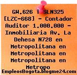 GW.626 | SLN325 [LZC-668] – Contador Auditor 1.000.000 – Inmobiliaria Av. La Dehesa N728 en Metropolitana en Metropolitana en Metropolitana en Metropo