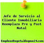 Jefe de Servicio al Cliente Inmobiliaria Reemplazo Pre y Post Natal