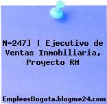 N-247]   Ejecutivo de Ventas Inmobiliaria, Proyecto RM