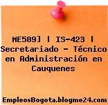 ME589] | IS-423 | Secretariado – Técnico en Administración en Cauquenes