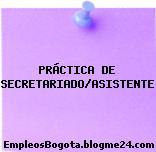 PRÁCTICA DE SECRETARIADO/ASISTENTE