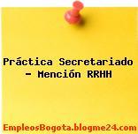 Práctica Secretariado Mención RRHH