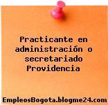 Practicante en administración o secretariado Providencia