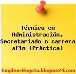 Técnico en Administración, Secretariado o carrera afín (Práctica)