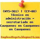 (WYS-361) | (CY-08) Técnico en administración – secretariado en Cauquenes en Cauquenes en Cauquenes