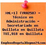 XML-1] (VRA258) – Técnico en Administración – Secretariado en Quillota en Quillota TUI.918 en Quillota
